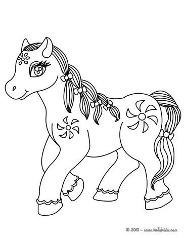 hello pony coloring pages flower pony coloring pages hellokids com