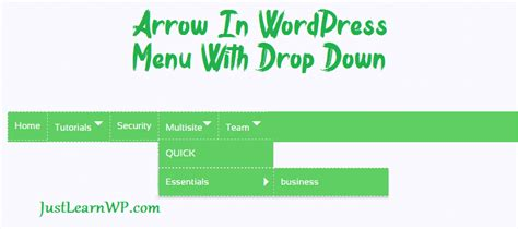 wordpress tutorial menus drop down how to add arrow in wordpress menus with css no jquery or