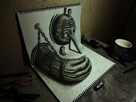 3d sketch drawing amazing 3d drawings by nagai hideyuki