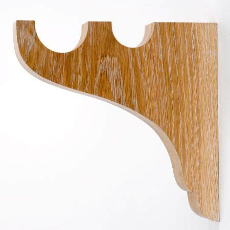 wood curtain brackets 17 best ideas about double curtain rod brackets on