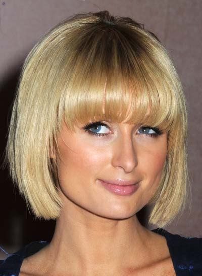 parisian bob hairstyle new haircut of paris hilton hairstyles latest long hairstyle