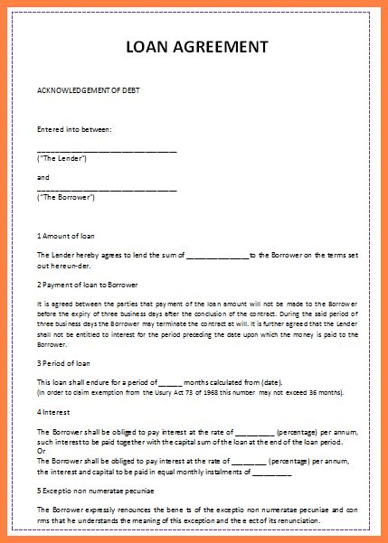 sample personal loan agreement template purchase agreement group