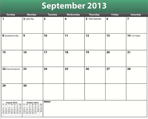 Calendar September 2013 Printable Pdf September 2013 Calendar