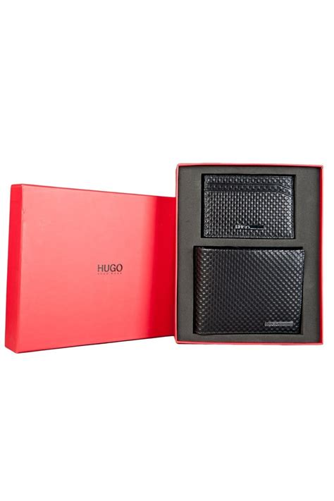 Gift Card Wallets - hugo boss red wallet and card holder gift set in black githo 50285790 hugo from sage