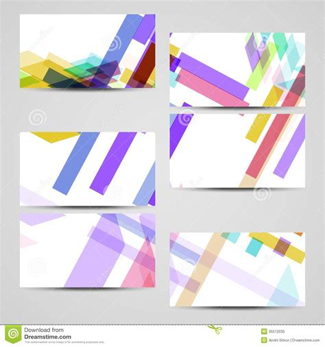 layout vector design vector business card set for your design royalty free