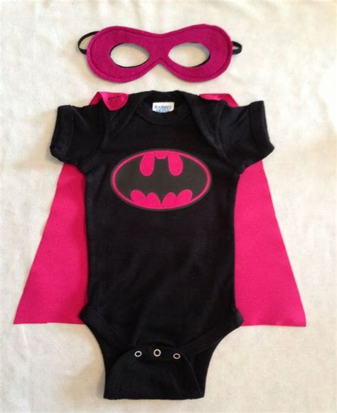 Babycape Polos batgirl baby onesie with detachable satin cape