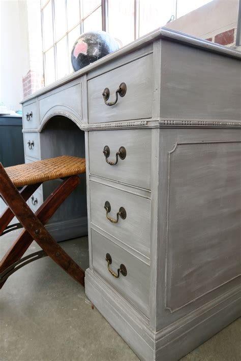 chalk paint white wax georgeous gray desk using white wax on furniture white