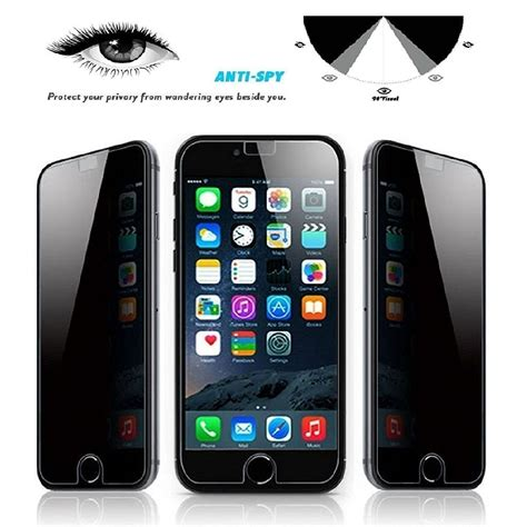 for apple iphone 8 plus privacy anti tempered glass screen protector ebay
