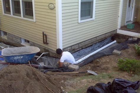 build  french drain exterior french drain systems