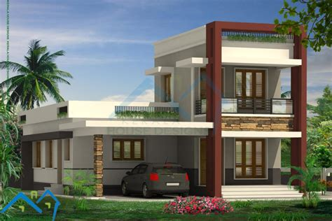 simple contemporary home design kerala home design home design low budget modern villas elevations home