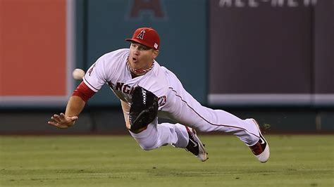 yes mike trouts heading back to left field sbnationcom