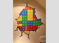 Hand painted mural - Lego brick wall | My art in 2019 ... P Alphabet Wallpaper