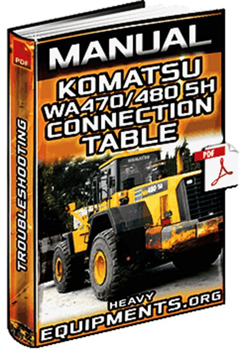 manual komatsu wa wa  wheel loaders troubleshooting diagrams heavy equipment