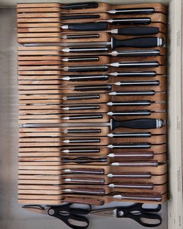 Knife Storage Drawer by In Drawer Wooden Knife Tray Organizing