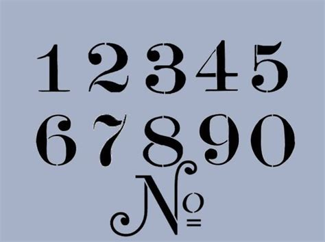 Letter No 9 Font 25 Best Ideas About Number Stencils On Number Template Printable Number Fonts And