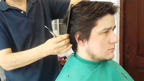 corte de pelo con tijera para caballero corte cl 225 sico todo a tijera youtube