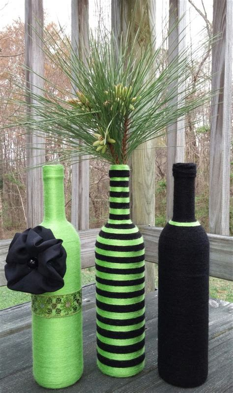 lime green home decor craspedia flowers wool billy button 17 best ideas about bottle vase on pinterest diy bottle