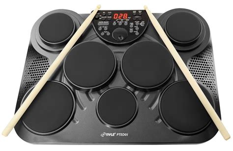Drum Digital pyle pro pted01 electronic table digital drum