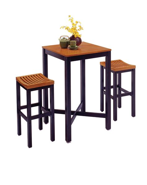 Table With Bar Stools by Home Styles Bar Table With Veneer Top Bar Stools By Oj