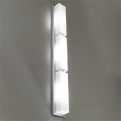 Lange Wandleuchte by 3 Glask 246 Rper Led Wandleuchte Stand Metal Chrom 1053210