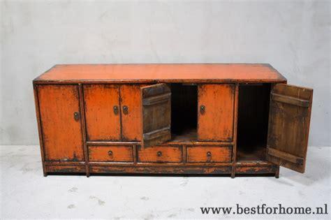 slaapkamer l industrieel cheap unieke chinese lage oud houten kast puur chic