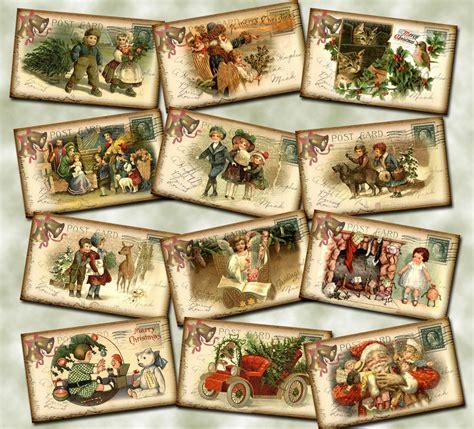 printable vintage gift tags christmas christmas holiday postcard vintage hang gift tags santa