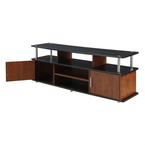 59 quot xl monterey tv stand in cherry and black 151440