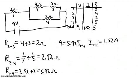 solving electrical circuits solving a combination circuit