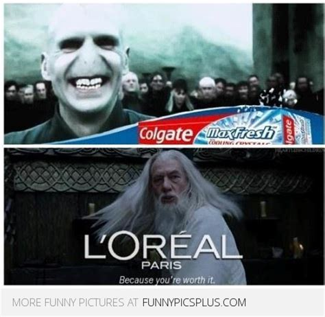 Loreal Paris Meme - colgate and loreal sponsored by harry potter funny pictures