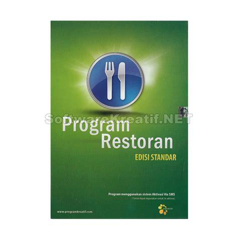 jual program restoran edisi standar