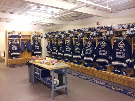 notre dame room and board notre dame hockey locker room hockey