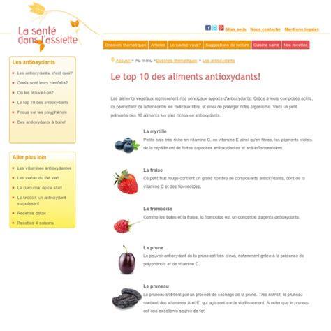 lista alimenti antiossidanti aliments antioxydants liste des 10 meilleurs aliments