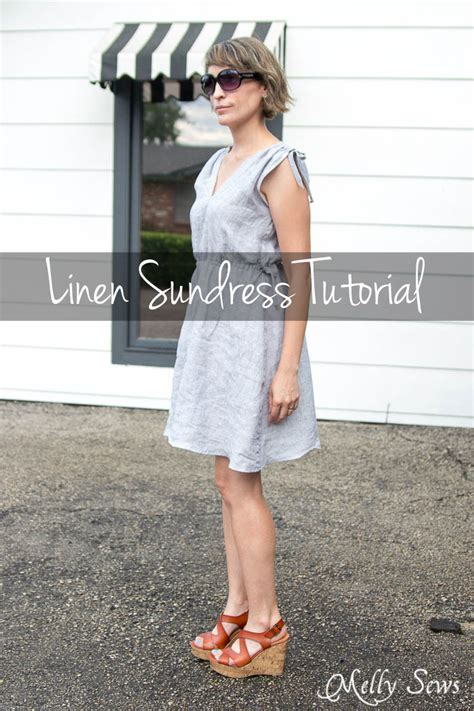 pattern sewing blog linen sundress tutorial melly sews