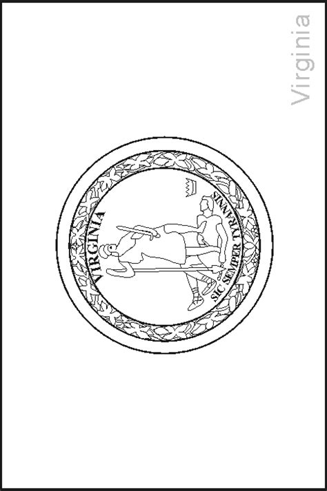 Virginia State Flag Coloring Pages Usa For Kids Virginia State Flag Coloring Page