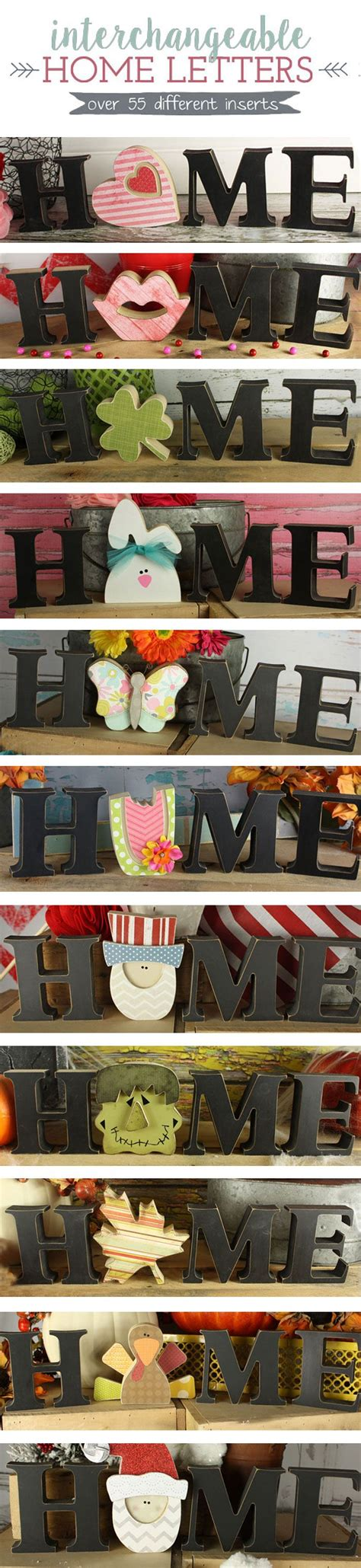 Home Letters interchangeable home letters 55 different inserts