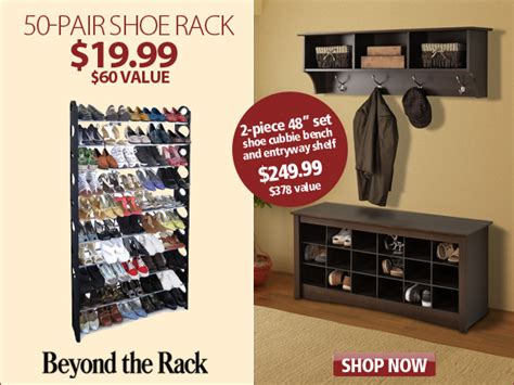 How Does Beyond The Rack Work by Beyond The Rack Declutter With Fifty Pair Shoe Racks Only