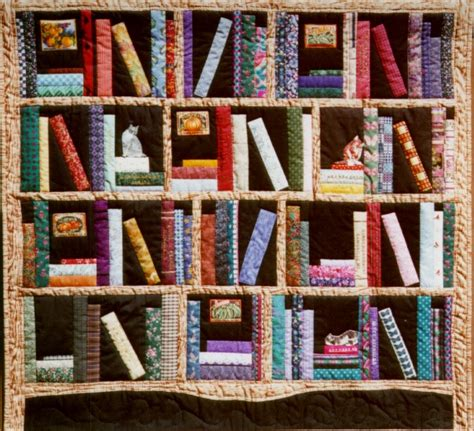 quilt pattern bookshelf bookshelf quilt by christine thresh quilting pinterest
