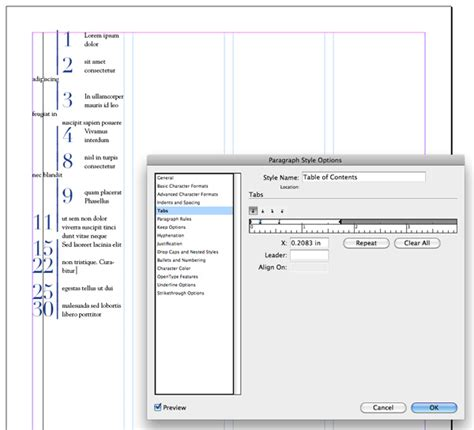 creating indesign index quick tip create a unique table of contents with adobe