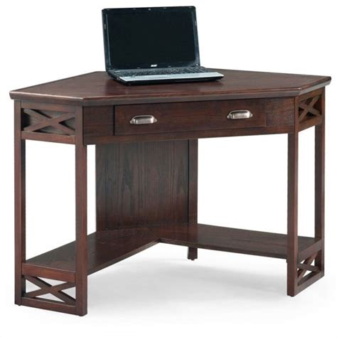 chocolate brown computer desk leick furniture corner computer writing desk in chocolate