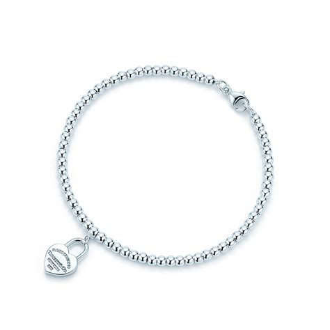 return to bead bracelet return to mini lock in sterling silver on a