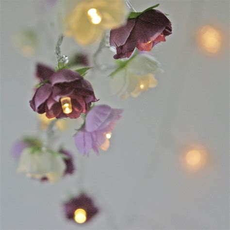 Reserved For Mollymag Rose Fairy Lights In Magenta Lilac And Lilac Lights