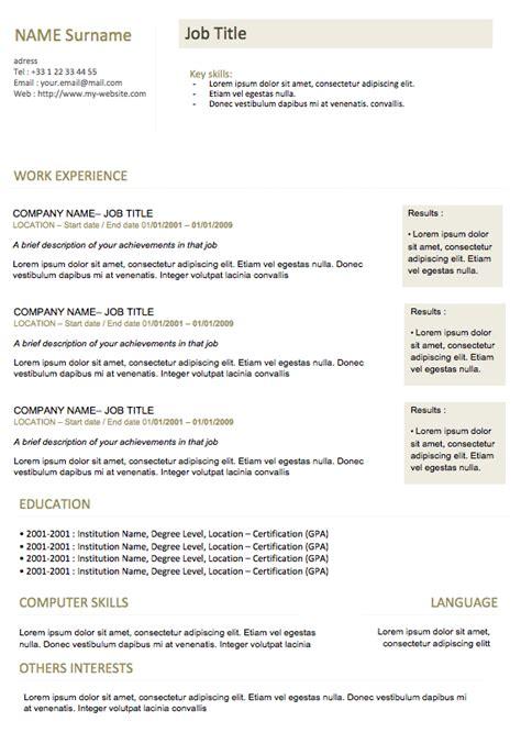 modern resume formats 2015 modern resume 01 curriculum vitae
