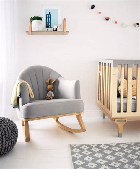 Nursery Rocking Chair Ireland Bunny Clyde Rocking Chair For Nursing Feeding Birch Wood Grey Mamas Papas