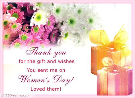 Thanks For The Card And Gift - thanks for the gift and wishes free thank you ecards greeting cards 123 greetings