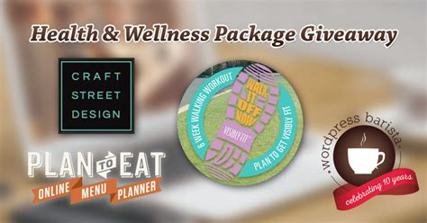 Health Giveaways - health wellness giveaways wpbarista blogging news for wordpress users