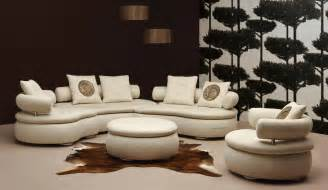 Livingroom Sectionals by Epic Rounded Sectional Sofa Design In Beige Fabric With