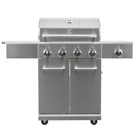 kenmore 4 burner stainless steel kenmore 4 burner propane gas grill in stainless steel with