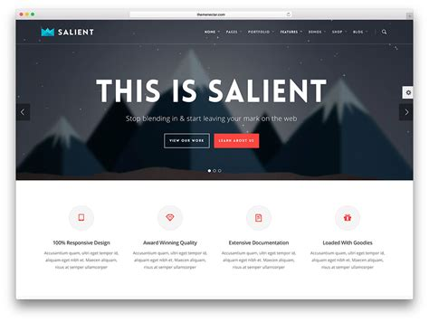 templates for static web pages 30 best insurance wordpress themes of 2017