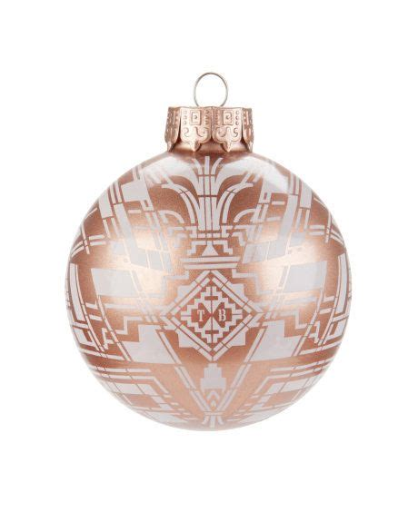 pink baubles next thim printed bauble mid pink s ted baker rose gold ornament art home