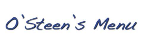 O'Steen's Restaurant | Online Menu & T-Shirts | Saint ... O Steen S